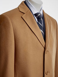 VICUNA Wool/Cashmere Topcoat by Tom James