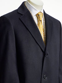 NAVY Wool/Cashmere Topcoat by Tom James
