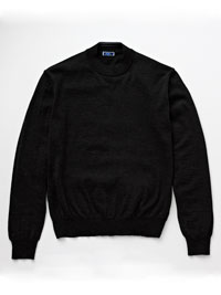 BLACK                          Mock Neck Knit by Tom James