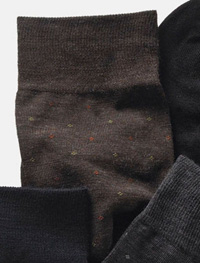 BROWN Mid-Calf Wool Dot Socks