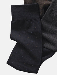NAVY Over-The-Calf Wool Dot Socks
