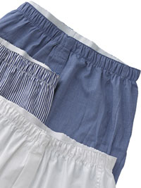 BLUE Cotton Boxer Shorts