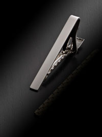 SILVER Solid Tie Bar By Tom James