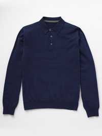 BLUE                           Long Sleeve Polos by Tom James