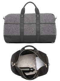 GRAY Gym Duffel Bag by Hook & Albert