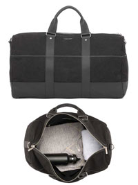 BLACK Gym Duffel Bag by Hook & Albert