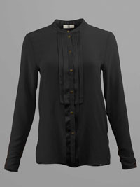 BLACK Pleated Front Blouse by Day Birger