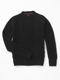BLACK Cable Knit Sweater by Jeremiah