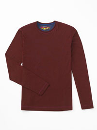 RED Long Sleeve Crew Knit by Robert Graham