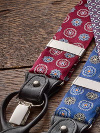 WINE                           Fancy Floral Silk Braces