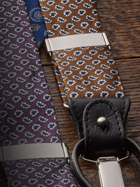 COFFEE                         Fancy Floral Silk Paisley Braces