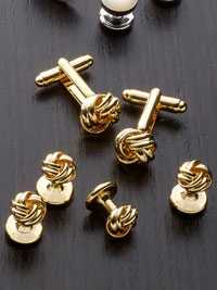 GOLD Knot Stud Set