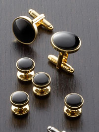 Gold Finish, Gold and Onyx