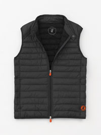 BLACK Quilted Vest by Save the Duck