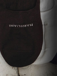 BLACK Solid NO SHOW Socks by Marcoliani