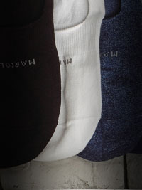 WHITE Solid NO SHOW Socks by Marcoliani