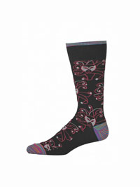 BLACK Merceria Socks by Robert Graham