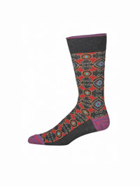 CHARCOAL Pasquino Socks by Robert Graham