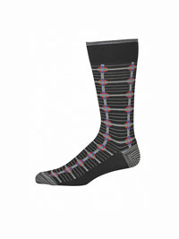 BLACK Luceria Socks by Robert Graham