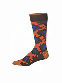 BROWN Zayden Socks by Robert Graham