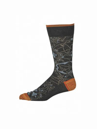 CHARCOAL Marforio Socks by Robert Graham