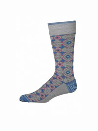 LT GREY Pasquino Socks by Robert Graham