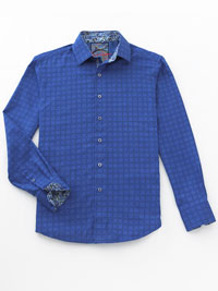 BLUE Sport Shirt by Robert Graham