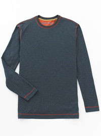 CHARCOAL Long Sleeve Crew Knit by Robert Graham