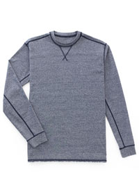 BLUE                           Long Sleeve Crew Knit by Tom James