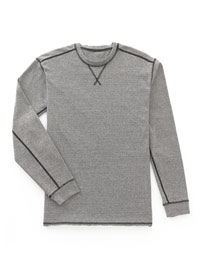 GRAY                           Long Sleeve Crew Knit by Tom James