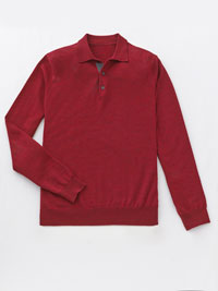 RED                            Long Sleeve Polos by Tom James