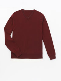 Pinot                          V-Neck Merino Wool Knit by Tom James