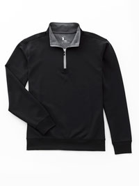 BLACK Tech Jersey 1/4 Zip Pullover by Fairway & Greene