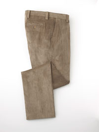 TAUPE MICROFIBER CORD TROUSERS BY TOM JAMES