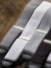 WHITE                          Textured Formal Braces
