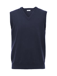 NAVY SWEATER VEST BY TOM JAMES