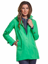 GREEN Ladies Rain Jacket by Save the Duck