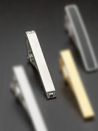 SILVER Brushed stainless steel Tie Bar