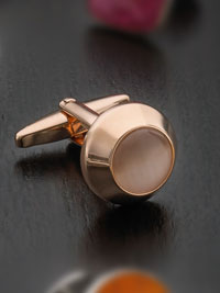 Rose gold plated beacon fibre optic with swivel Cufflinks