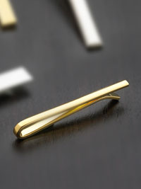 Gold plated skinny bar Tie Bar