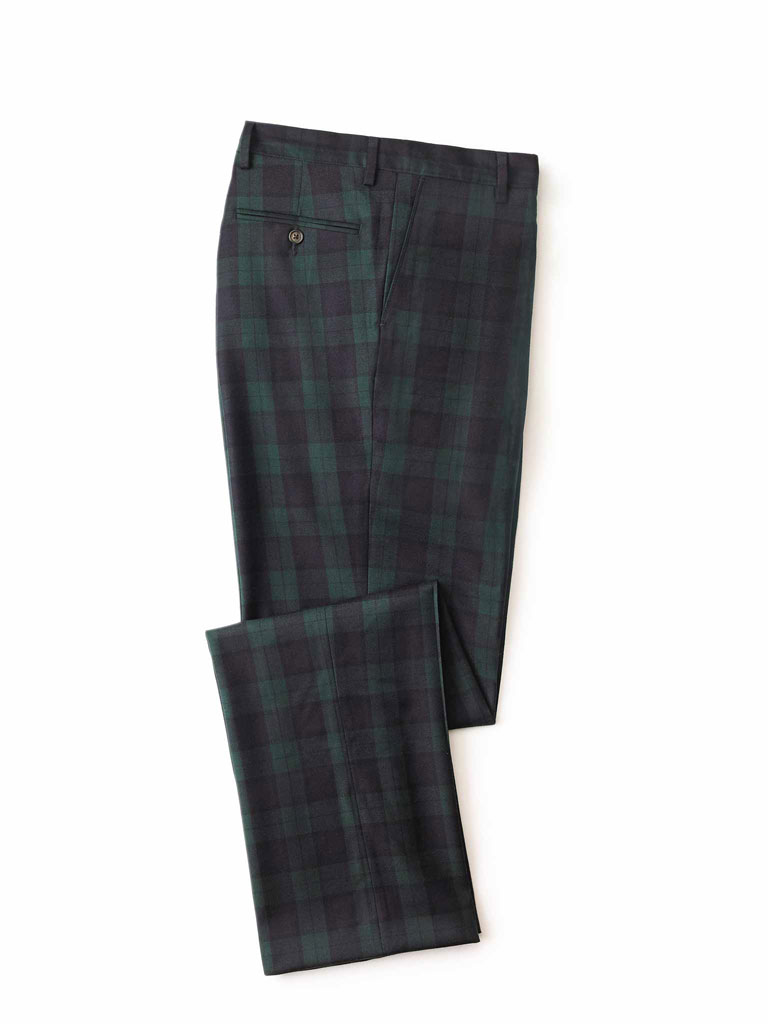 BLACK Watch Plaid Trouser by Tom James