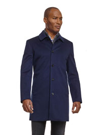 BLUE Tom James Coat with Loro Piana Storm System