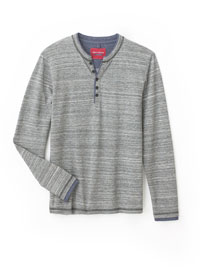 STONE Long Sleeve Henley by Report