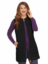 BLACK Ladies Long Vest by Save the Duck