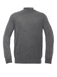 GRAY Mock Neck Knit Sweater by Tom James