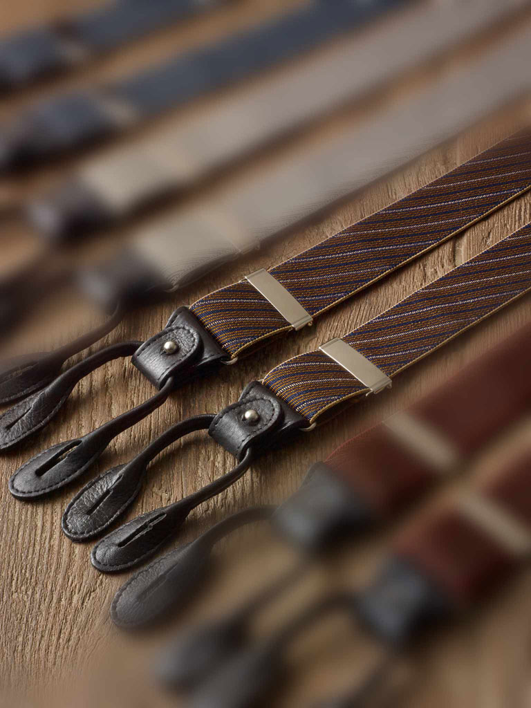 BRONZE DIAGONAL STRIPE BRACES