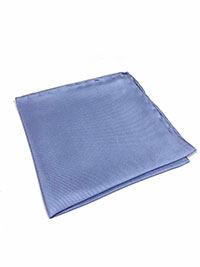 PERWINKLE(PURPLISH BLUE) 100% Silk Pocket Square