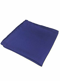 COBALT 100% Silk Pocket Square