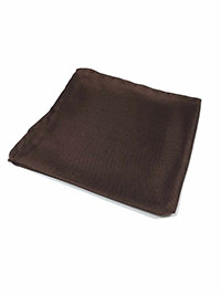 CHOCOLATE 100% Silk Pocket Square
