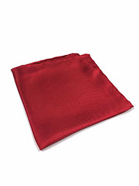 RED 100% Silk Pocket Square